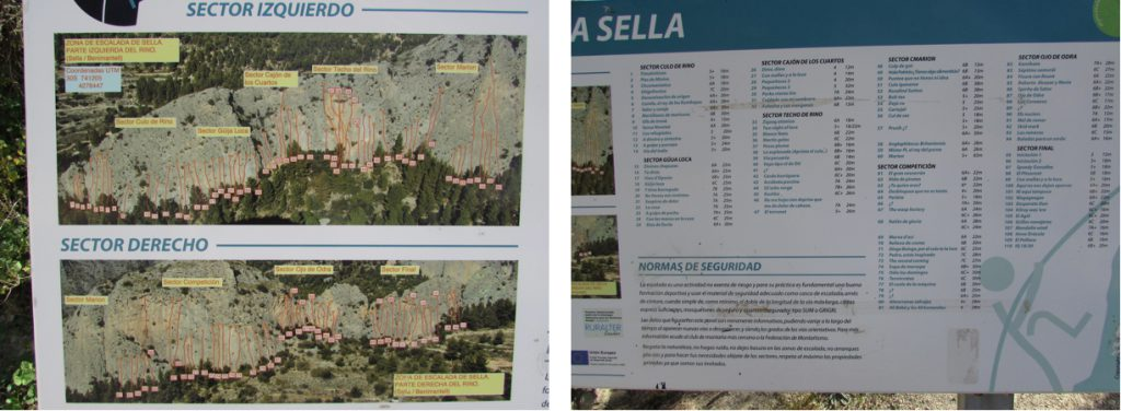 Routes at the Sella Crags, 4km from the B&B. Climbing in Sella on the Costa Blanca