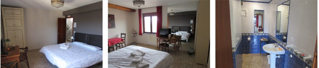 Kamer 1 heeft een Queen size bed, Bed and Breakfast Villa pico, Sella, Costa Blanca