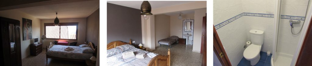 Kamers 3 heeft 2 bedden, Bed and Breakfast Villa pico, Sella, Costa Blanca