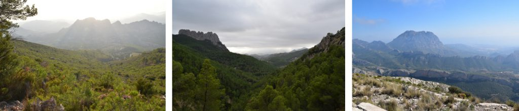 Great views less then 15km from Villa Pico, Sella, Alicante. Walking , Hiking ,Climbing  Costa Blanca. Accomodation for Climbers