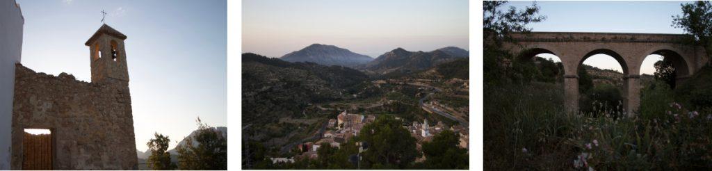 Ermita de Santa Barbare, Sella een typisch Spaans dorp met zijn smalle straatjes, De brug naar het dorp.