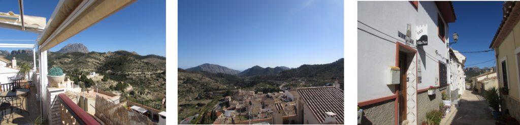 Views from B&B Villa Pico, Sella, Alicante, Aitana.