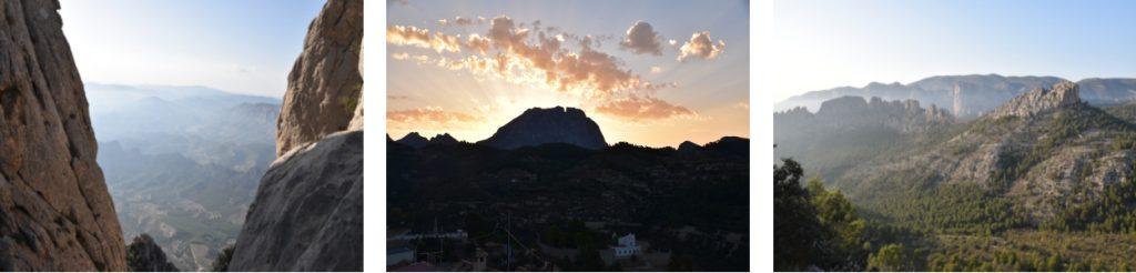 Beautifull views from the Puig Campana Climbing area, Sella, Alicante, Costa Blanca. Walking , Hiking ,Climbing  Costa Blanca. Accomodation for Climbers